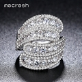 Mecresh 2017 Top CZ Vivid Ring Unique Shaped Exaggerated Rings for Wedding Gold Plated Women Jewelry Anillos Mujer Gift JZ027