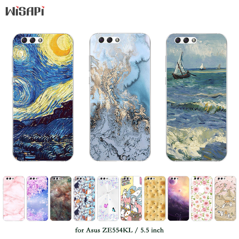 Phone Cases <font><b>For</b></font> <font><b>Asus</b></font> <font><b>Zenfone</b></font> 4 <font><b>ZE554KL</b></font> Case Fashion Printed Back <font><b>Cover</b></font> Fundas Soft Silicone TPU Case Ultra Thin <font><b>Covers</b></font> image