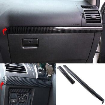 Car Styling 2pcs For Toyota Land Cruiser Prado FJ150 2010-2018 Carbon fiber texture Center Console Decoration Strips Trim