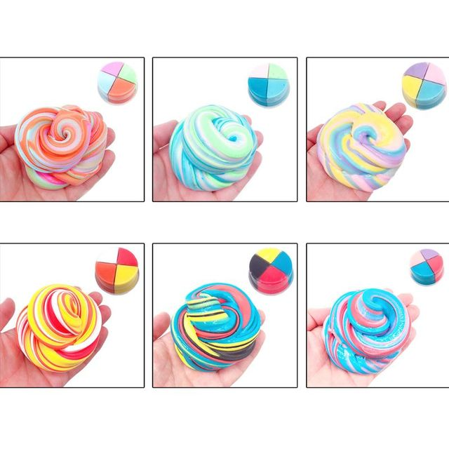 New Fruite Slime Fluffy Foam Clay Slime Soft Cotton DIY Slime Antistress No Borax Kids Toys For Boys Girls Toy