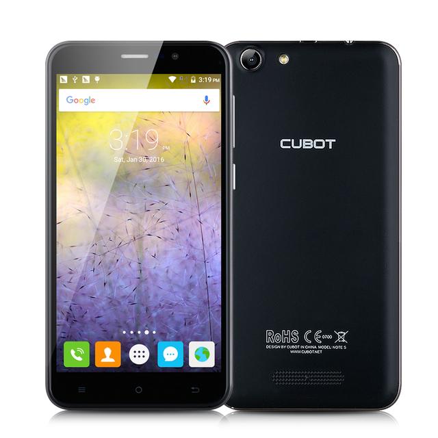 Original CUBOT NOTE S 5.5 Inch MT6580 Quad Core Android 6.0 Mobile Phone Dual SIM
