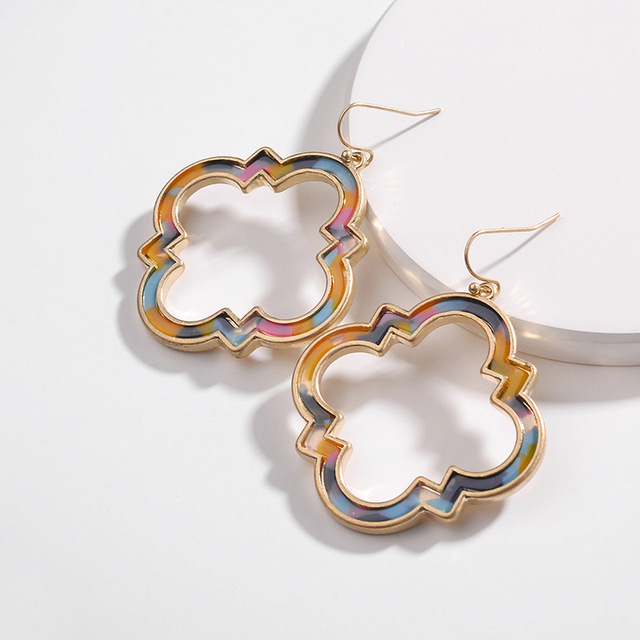 ZWPON 2018 Trendy Morocco Gold Frame Acetate Leopard Earrings for Women  Fashion Autumn New Statement Earrings Jewelry Wholesale aa509b772677