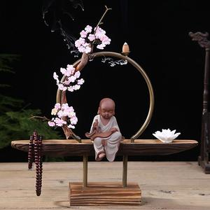 Image 4 - Cultural Elegant Creative Backflow Incense Burner Traditional Buddha Lotus Classic Smoke Waterfall Incense Holder Home Decor