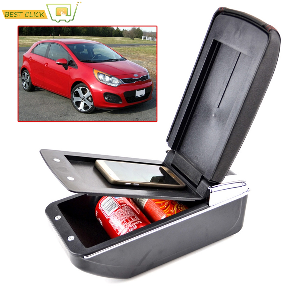 Nice For Kia K2 Rio Armrest Box Pu Leather Central Store Content Box With Cup Holder Ashtray Products Accessories 2012-2015 Comfortable And Easy To Wear Armrests Back To Search Resultsautomobiles & Motorcycles