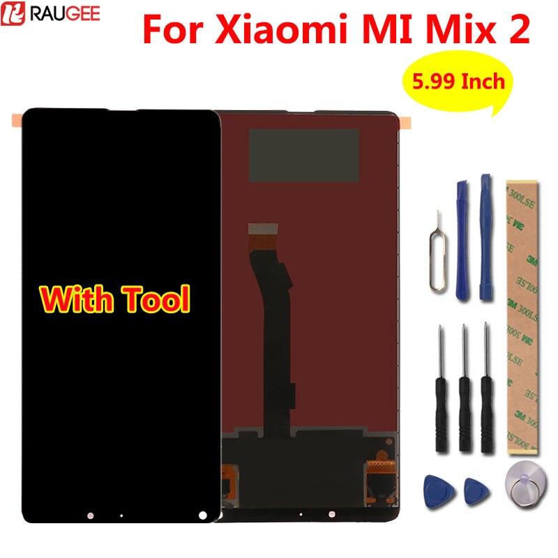 Pour Xiao mi mi mi x 2 écran lcd + Tactile digitizer assemblée Panneau De Verre Affichage écran Pour Xiao Mi mi mi x 2 mi mi X2 lcd 2160x1080