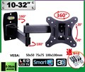 Hot Sell 10-26 inch LCD LED Monitor Holder TV Wall Mount Full Motion Swivel Tilt Bracket Swing Arm EML602