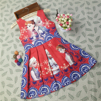 2018 Hot Chinese Style Baby Girls Dresses Anna Elsa Kids Party Dress Clothing Sleeveless Breathable Girls