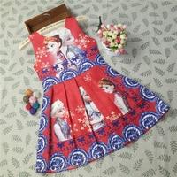 2018 Hot Chinese Style Baby Girls Dresses Anna Elsa Kids Party Dress Clothing Sleeveless Breathable Girls