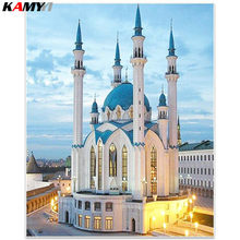 Mosque Diamond Embroidery Sale Picture of Rhinestones Wall Decor 5D Diamond Mosaic Scenic Needlework,Diamond Painting BK(China)
