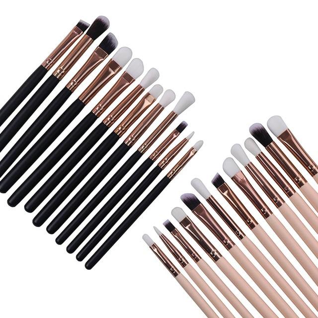 Bettyliss 12 piezas de sombra de ojos maquillaje pinceles Pro pinceaux maquillaje cepillo de cejas mezcla pinceles de maquillaje de pelo sintético