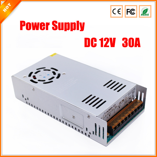 Genteel Latest 12v 30a 350w Switch Switching Power Supply For Cctv Camera For Security System For Led Light Strip 110-240v To Invigorate Health Effectively Video Surveillance Cctv Accessories