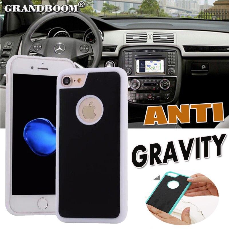 imágenes para GRANDBOOM Anti Gravedad Nano Pared Pegajosa Cubierta Híbrida Del Caso para el iphone 7 6 6 S Más SE 5 5S Samsung S6 S7 S8 plus Borde Nota 5 10 unids