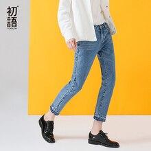 Toyouth femme Jean Demin Jeans Boyfriend Para As Mulheres Meados Cintura de Algodão Lavado Calças de Cowboy Do Vintage Casual Solta Calças Venda Quente