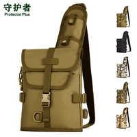 Taktyczne torba w klatce piersiowej Protector Plus X218 torba sportowa kamuflaż Nylon wojskowy Trekking opakowanie na zewnątrz piesze wycieczki, jazda na rowerze, torba