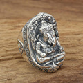 2016 Brand Thai Silver retro handmade elephant god Wide Real 925 sterling silver 925 jewelry for men and women fine jewelry GY51