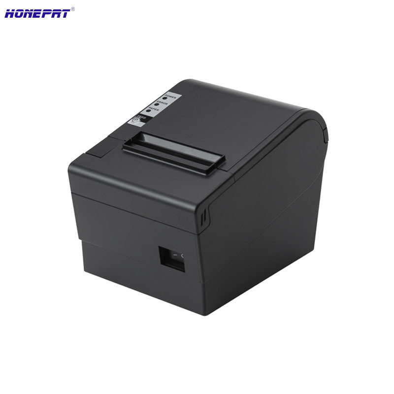 Hot Black High Speed 220mm/s 80mm Auto Cutter Thermal Receipt Printer With LAN Interface For Retail Shop HS-825L 260mm sec high speed 80mm thermal printer with auto cutter multiple ports for option ocpp 801