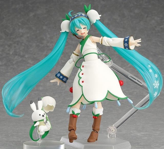 Hatsune Miku rabbit Anime Collectible Action Figure PVC toys for christmas gift with retail box free shippnig