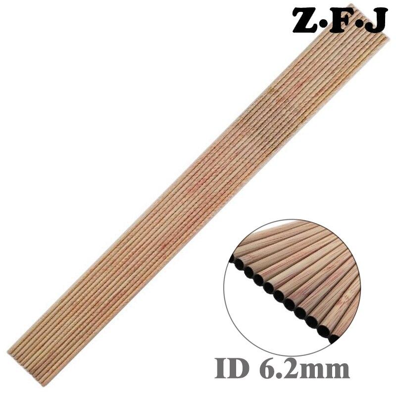 12pcs Carbon arrow wood skin arrow shaft spine500 for DIY traditional bow ID6.2