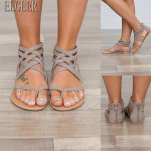 Këpucë të reja të grave me madhësi të mëdha, sandale romake, klipe të grave, sandale të modës me rrip të prerë