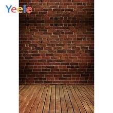 Yeele Old Fade Brick Background Wall Planks Floor Baby Scene Photography Seamless Vinyl Props Photo Studio Photographic Backdrop цена в Москве и Питере