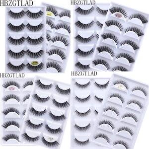Image 1 - חדש 50 קופסות 3D מינק שיער צלב טבעי ארוך מבולגנים איפור מזויף עין ריסים הארכת איפור יופי כלים