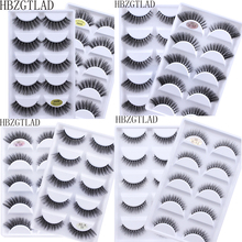 NEW 50 boxes 3D Mink Hair Natural Cross False Eyelashes Long Messy Makeup Fake Eye Lashes Extension Make Up Beauty Tools