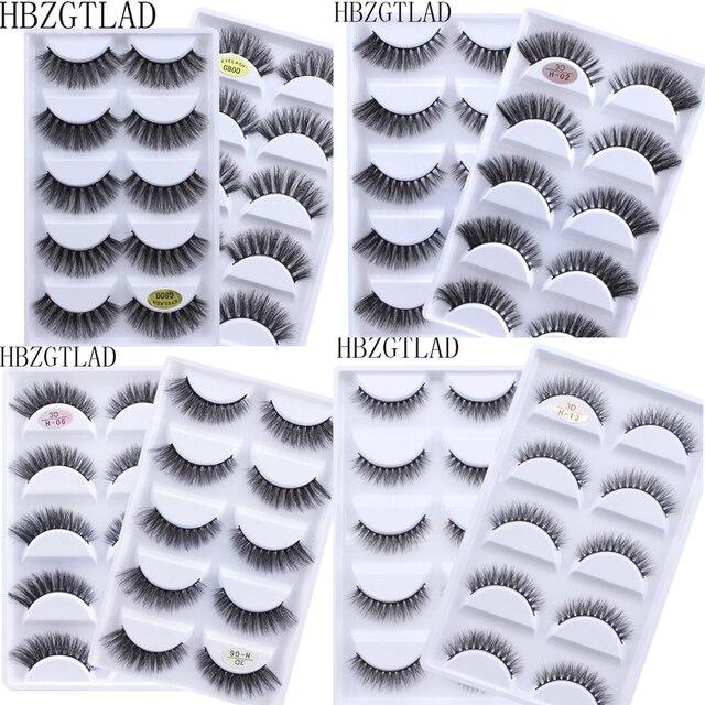 NEW 50 boxes 3D Mink Hair Natural Cross False Eyelashes Long Messy Makeup Fake Eye Lashes Extension Make Up Beauty Tools
