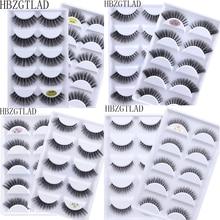 Yeni 50 kutuları 3D vizon saç doğal çapraz yanlış Eyelashes uzun dağınık makyaj sahte göz Lashes uzatma makyaj güzellik araçları