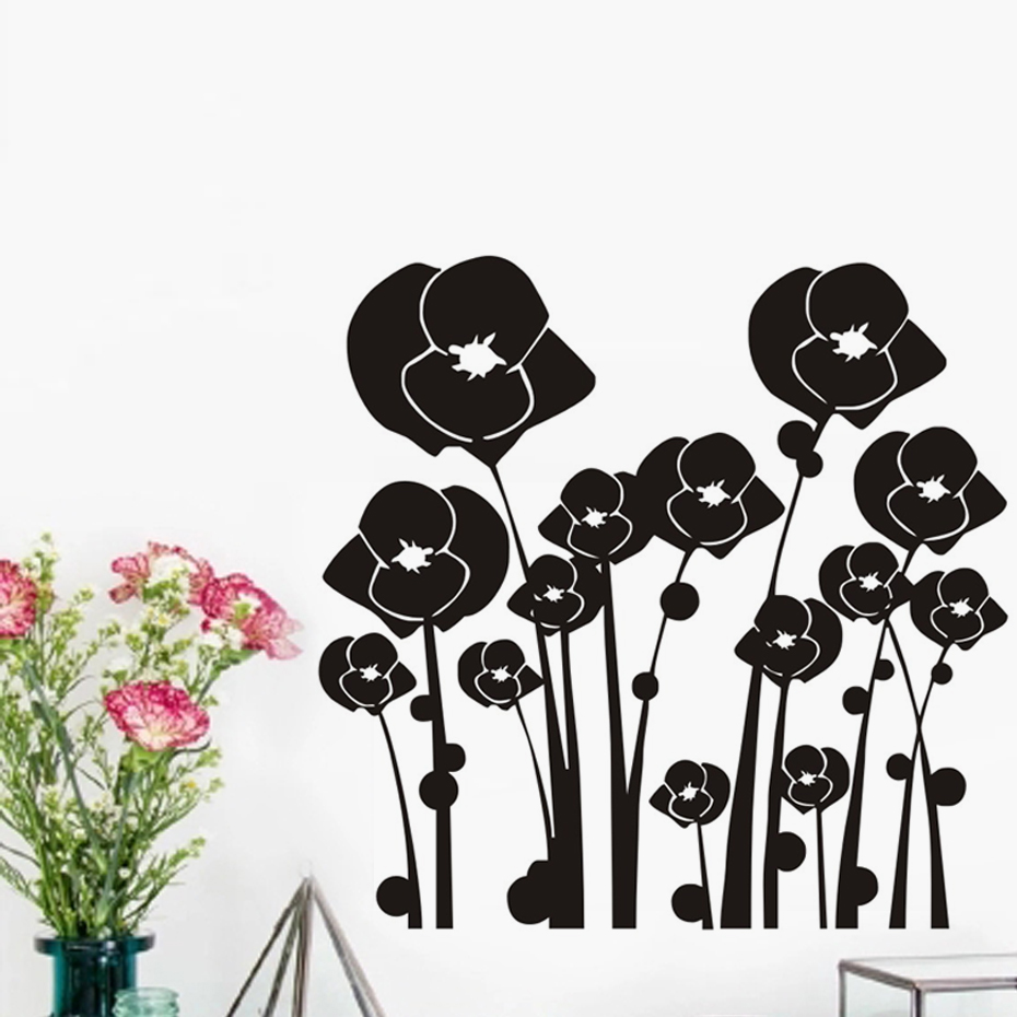 Buy beautiful flower wall stickers living - Beautiful wall stickers for living room ...