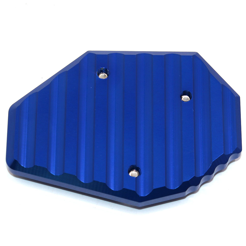 BJMOTO Motorcycle CNC Aluminum Side Stick Stand Plate Enlarge Extension Blue For Yamaha MT07 XJ6 FZ6 FZ6R FZ07 MT 07 FZ 07 in Covers Ornamental Mouldings from Automobiles Motorcycles