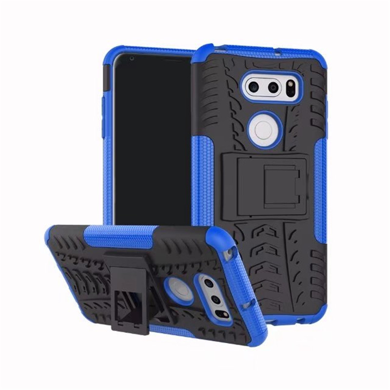 For LG V30 Q6 Plus Case Luxury Armor stand 360 full cover For G6 K4 G4 Play G6 Mini Shockproof TPU + PC Phone Case Coque