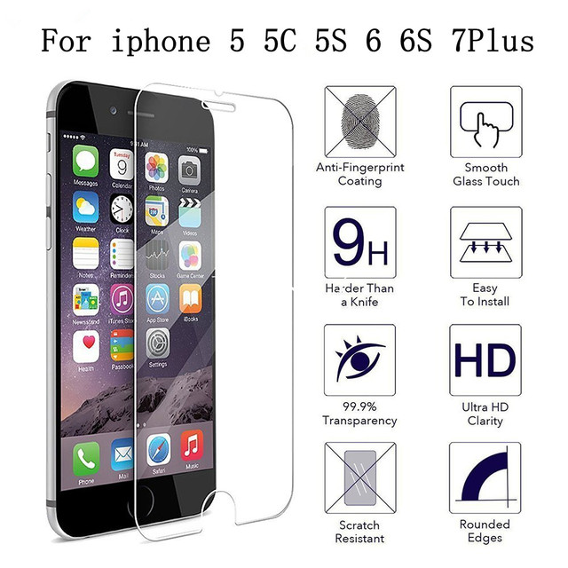 Ultra Thin Tempered Glass for iPhone4 4S 5 5C 5S 6 6S 7 Scratch Proof 2.5d HD iphone 6 6s 7 plus