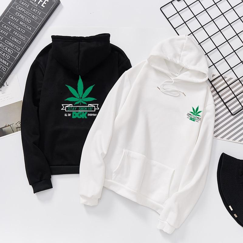 JIANWEILI Sweatshirt Women Autumn Thin Hoodies Pullovers Long Sleeves Tee Shirt Tops Harajuku Cannabis Leaf Printed Bts Shirts