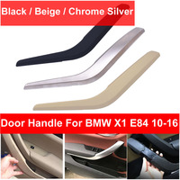 Black Beige Silver Front Rear Left / Right Chrome Car Interior Door Handle Inner Pull Trim Cover For BMW X1 E84 10 2016 Styling