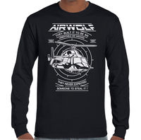 Airwolf Mens 80's Retro TV Programme T Shirt Helicopter Drama Show Chopper