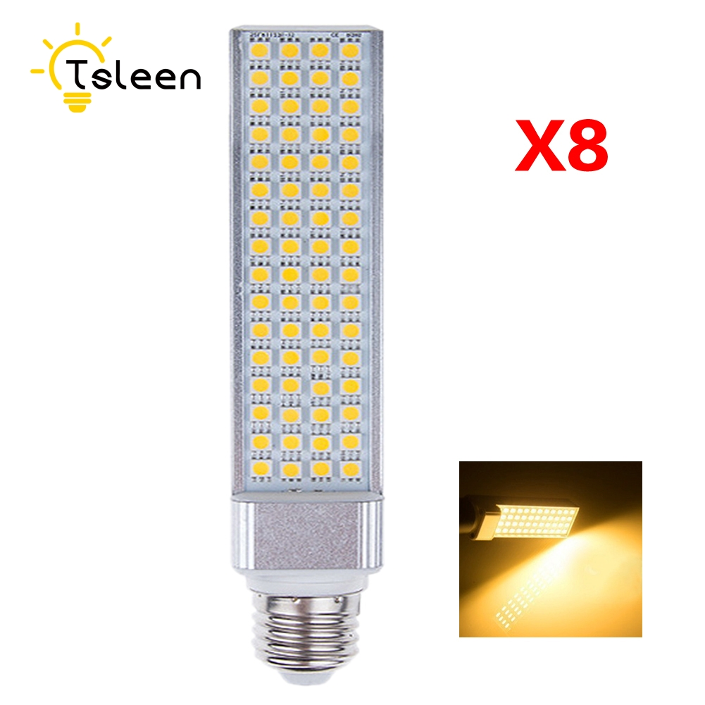 Wholesale 8X E27 LED Bulbs 5W 7W 9W 11W 13W 220V LED Corn Bulb Lamp Light SMD 5050 Spotlight AC85-265V Horizontal Plug Light energy efficient 7w e27 3014smd 72led corn bulbs led lamps