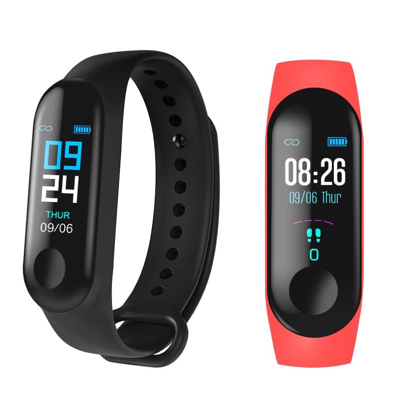 M3 Smart Band Sport Bracelet Fitness Tracker reloj inteligente Wristband Monitor 0.96 inch Heart Rate Monitor Smart band-in Smart Wristbands from Consumer Electronics