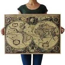 Старая морская фигура Ретро Винтаж крафт-бумага плакат Крытый Бар Кафе декоративная живопись для детей детская карта