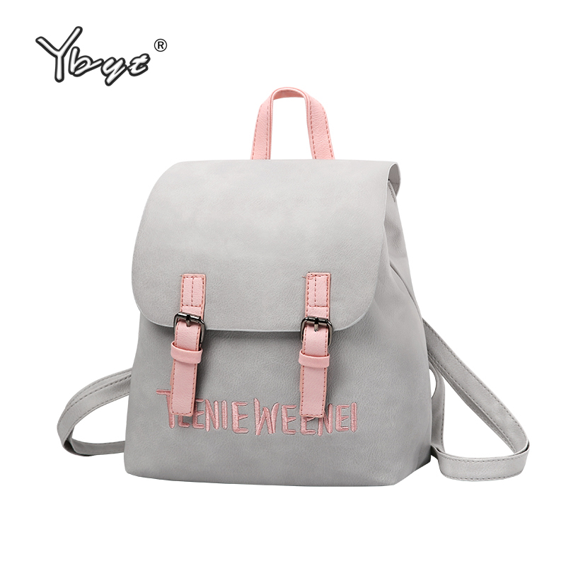 YBYT brand 2017 new preppy style rucksack hotsale women joker shopping shoulder lady bookbag travel bag student school backpacks цена