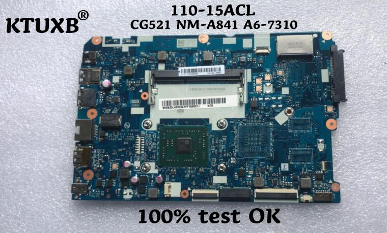 KTUXB Lenovo CG521 NM A841 motherboard for Lenovo 110 15ACL notebook motherboard CPU A6 7310 DDR3