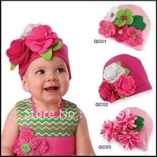 Pink sombreros nuevo stock baby gorritas tejidas de los sombreros girls   sombrero gorras diadema 217c9fd72aa
