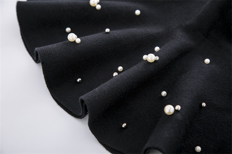 TONGMAO 19 New Fall and Winter Girls Fashion Casual Knit Skirt Children's Clothing Bottoming Pearl Princess Tutu Skirts Wild 8