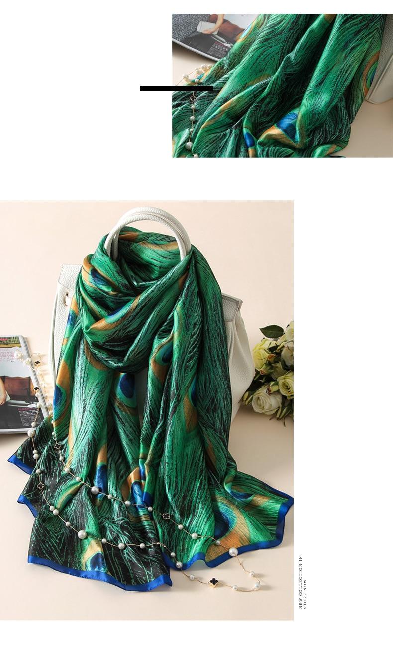 [Peacesky] Жаңа сәнді дизайнер Silk Scarfs - Киімге арналған аксессуарлар - фото 6