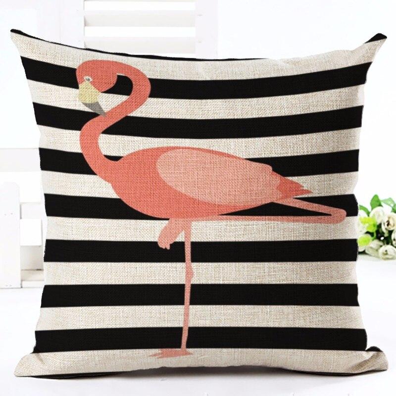 Moda Üslubu Tropik Flamingo Çap Atılan Yastıq Ev Yastığı - Ev tekstil - Fotoqrafiya 2