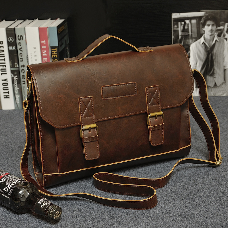 8755acf507 Men Casual Briefcase Business Shoulder Bag PU Leather Messenger Bags  Computer Laptop Handbag Bag Men s Travel Bags School Tote - aliexpress.com  - imall.com