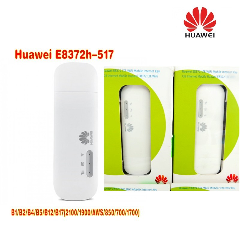 Lot of 5pcs Unlocked Huawei E8372 150Mbps Modem E8372h-517 4G Wifi router 4G LTE Wifi Modem LTE band1/2/4/5/12/17 5pcs lot sky77701 2 sky77701 77701 2 77701 qfn 100