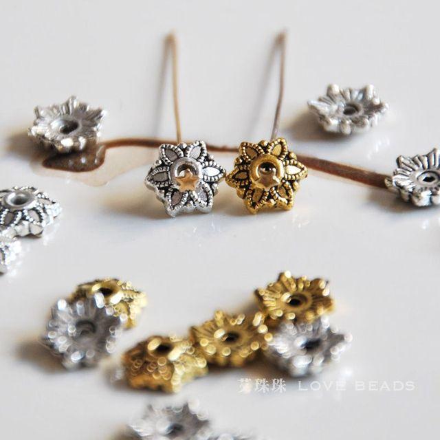 Stupendous 10 Pcs Lot Tibetan Silver 6Mm Beads Caps Diy Materials Bracelet Wiring Cloud Hisonuggs Outletorg