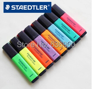 New hot 8 pieces/set  German Staedtler  Highlighter pen marker pen art use 8 colors free shipping