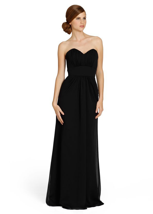 Sexy Long Black Bridesmaid Dresses Off Shoulder Wedding Party Dress ...