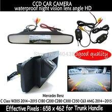 Для Mercedes Benz cla класс C117 2015 заднего вида Камера обратный Камера HD CCD RCA ntst Камера багажник ручка с зеркалом монитора